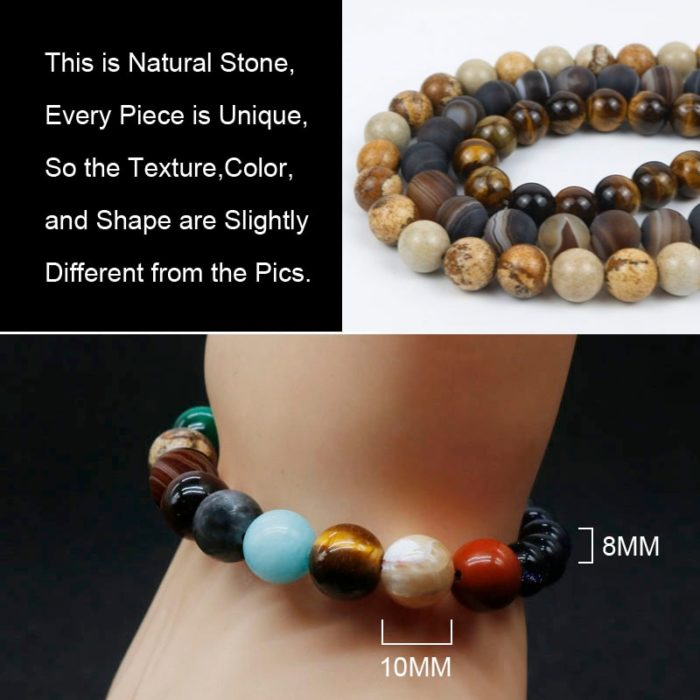Planet Bracelet Crystal Stone Beads