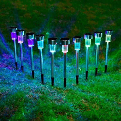 Solar Path Lights Outdoor Lamp (10 Pcs)