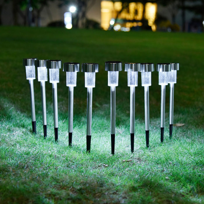 Solar Path Lights Outdoor Lamp (10 Pcs)