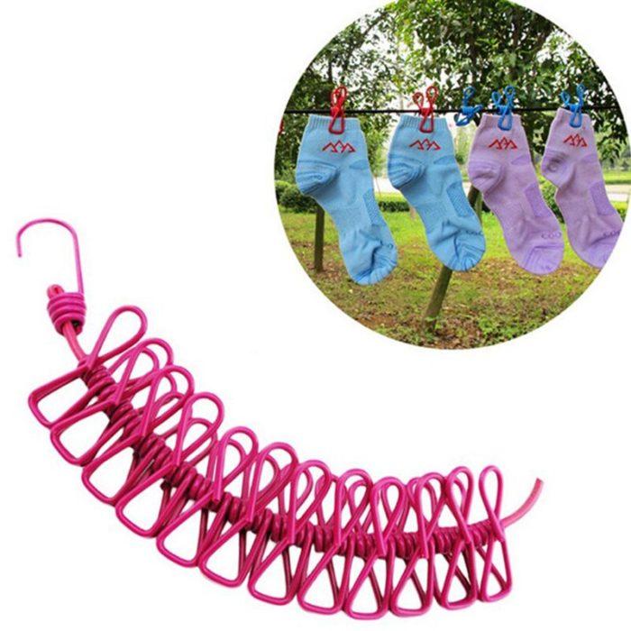 Retractable Washing Line Portable Clothesline