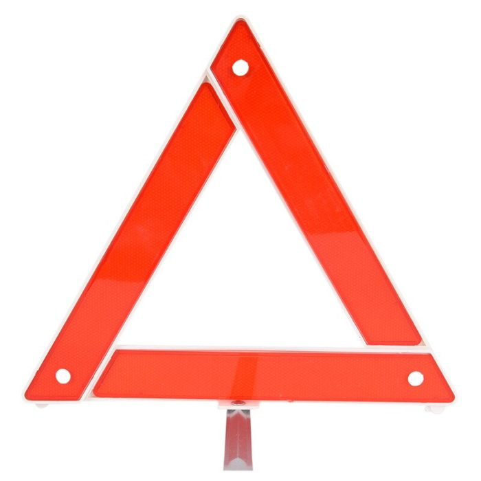 Warning Triangle Reflective Sign