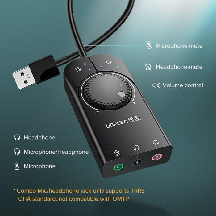 External Sound Card Audio Adapter