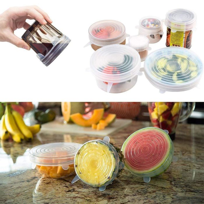 Silicone Stretch Lids Food Cover (6 Pcs)