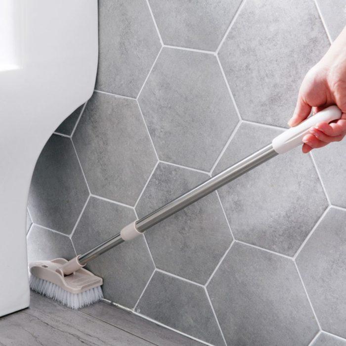 Bathroom Tile Cleaner Long Handle Brush
