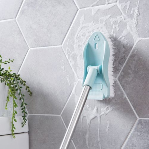 Bathroom Tile Cleaner Long Handle Brush