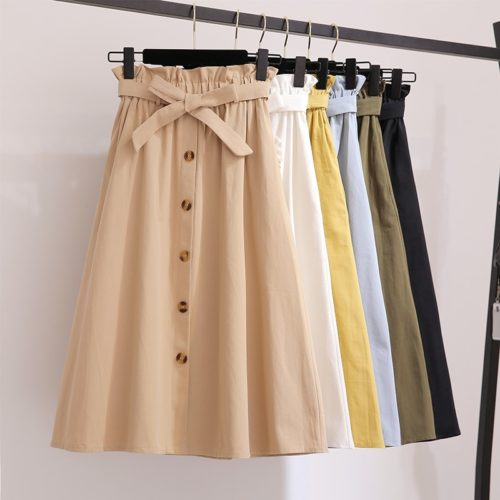 Skirt With Pockets Ladies Fashionwear