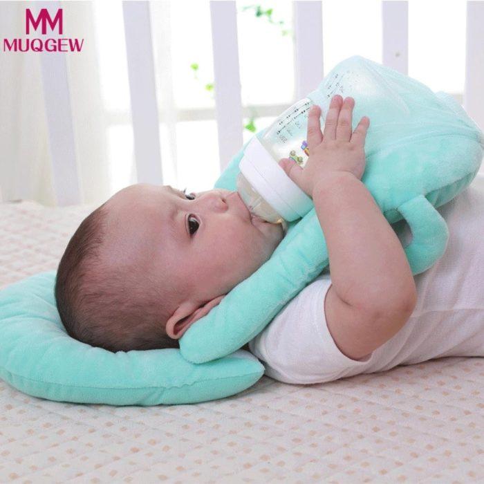 Baby Feeding Pillow with Bottle Holder