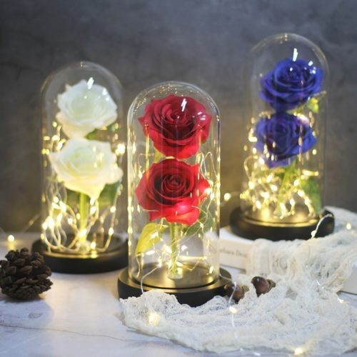 Rose In A Glass Artificial Flowers