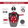 Kids Full Face Helmet Bike Safety