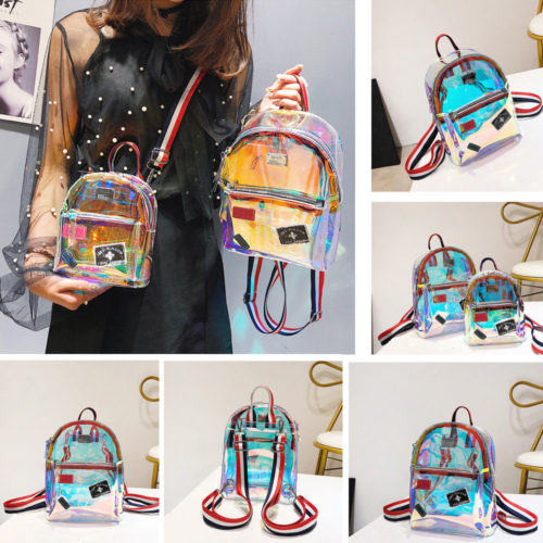 Transparent Backpack Girls Fashion Bag