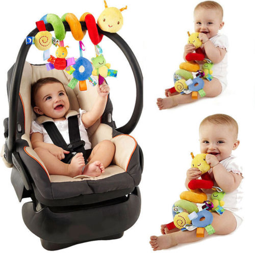 Baby Car Seat Toy Spiral Design
