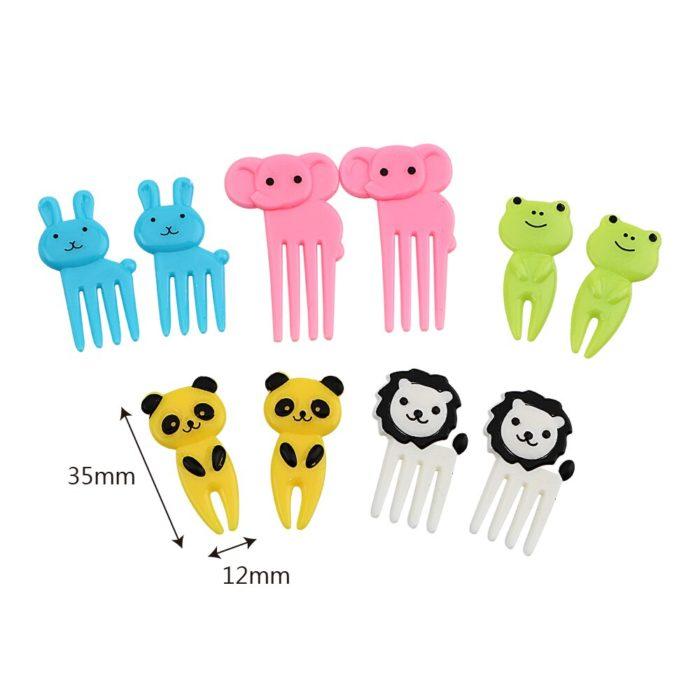 Dessert Fork Mini Animal Toothpicks