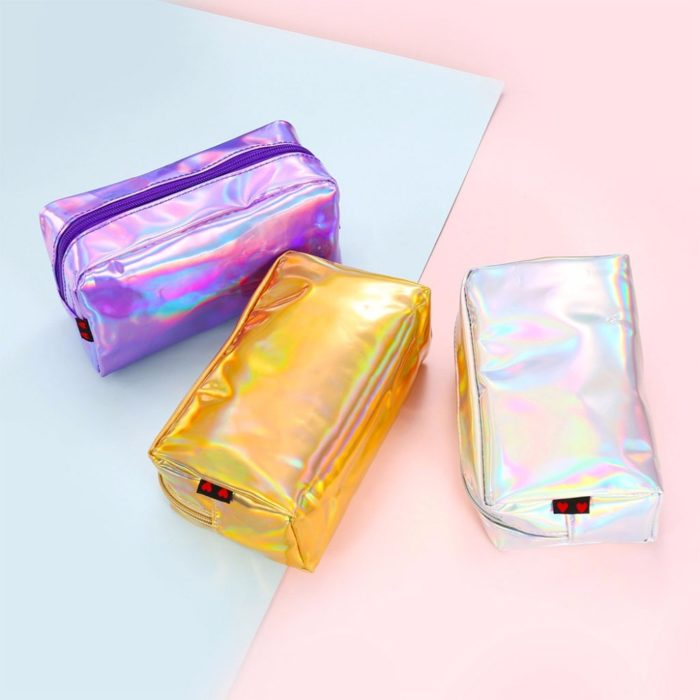 Cosmetic Pouch Iridescent Makeup Bag