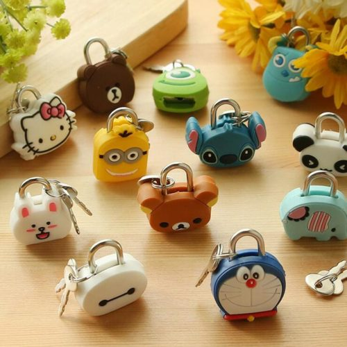 Cartoon Lock Adorable Journal Latch