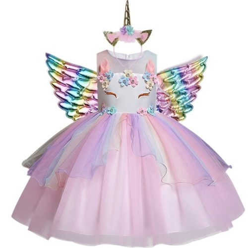 Unicorn Dress Kids Formal Wear