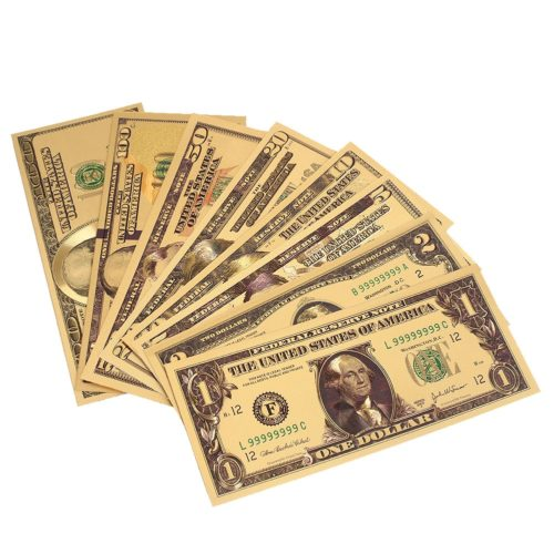 Fake Money Gold Foil Bank Notes