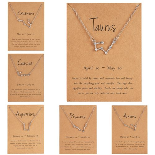 Constellation Necklace Zodiac Jewelry