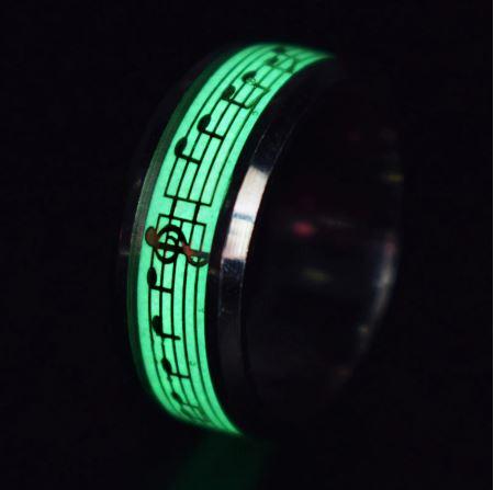 Glow In The Dark Rings Luminous Jewelry
