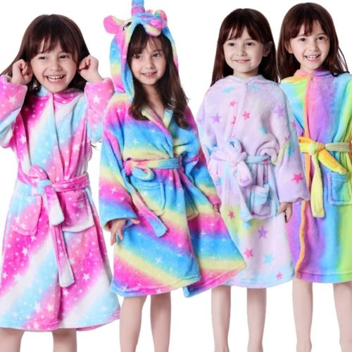 Hooded Bathrobe Kids Animal Robe