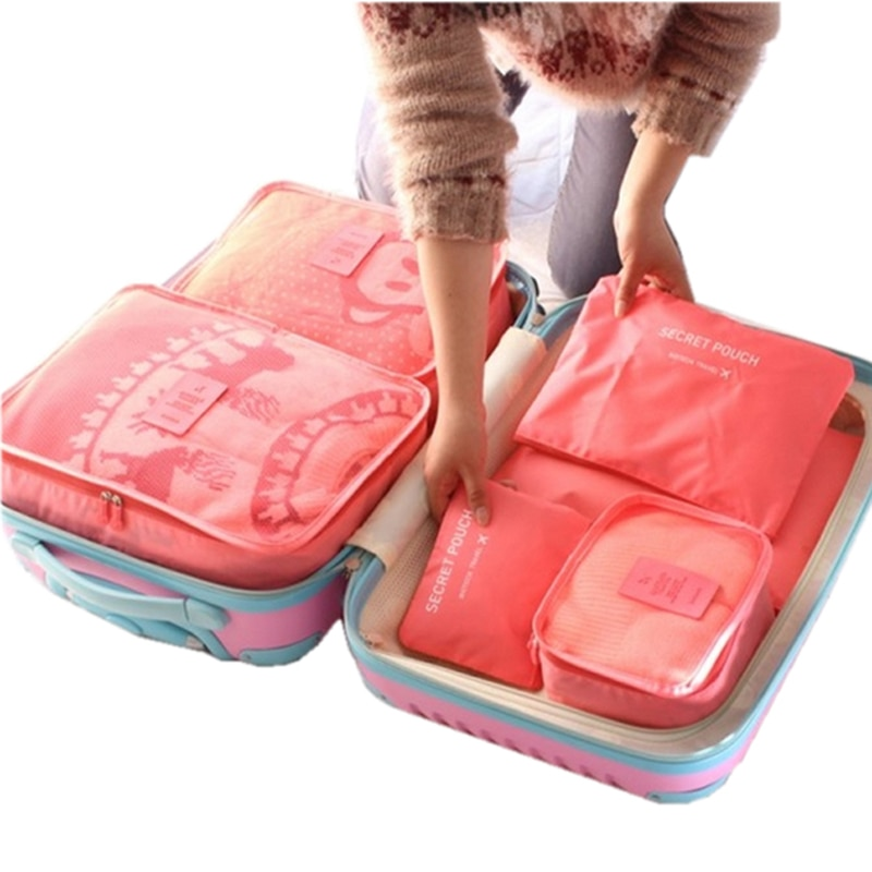 Travel Storage Bags 6 Pieces Organizer