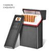 Metal Cigarette Case With Lighter