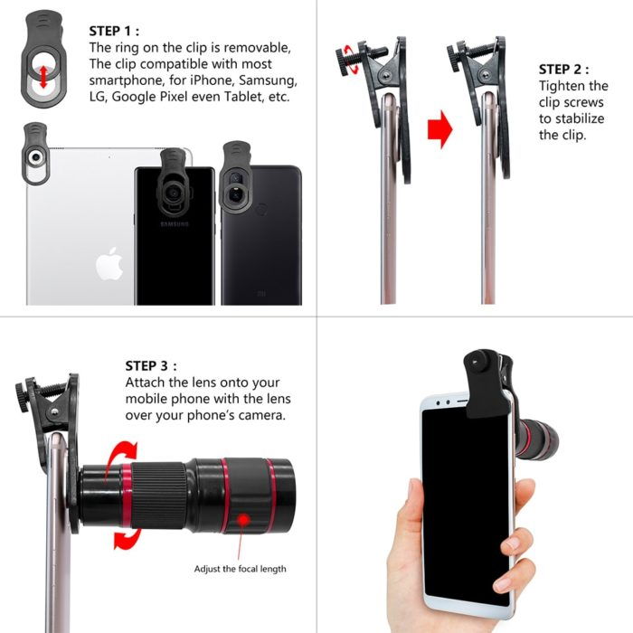 Mobile Zoom Lens Phone Camera
