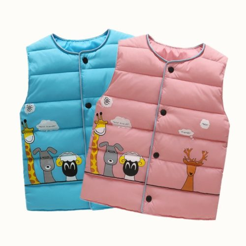 Kids Vest Warm Sleeveless Clothes