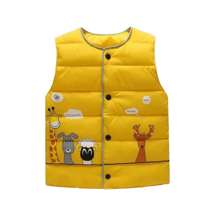 Kids Vest Warm Sleeveless Clothes