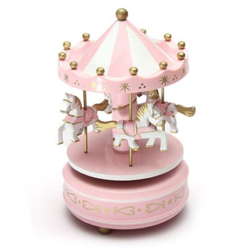 Carousel Music Box Rotating Horses