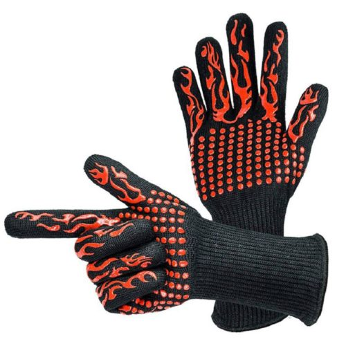 BBQ Gloves 1 Pair Anti-Slip Mittens