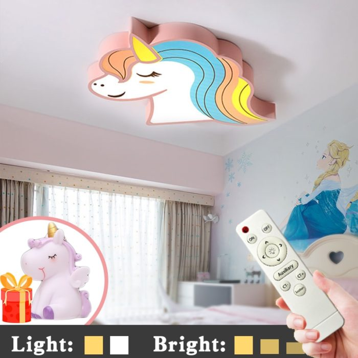 Kids Ceiling Light Unicorn Fixture