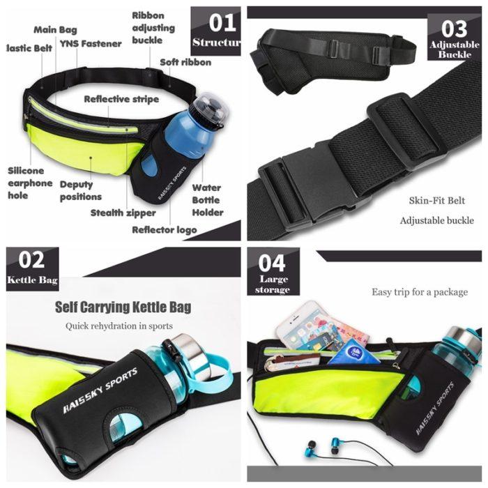 Bottle Bag Sports Waist Belt Bag