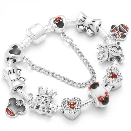 Silver Charm Bracelet Disney Characters