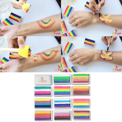 Rainbow Face Paint Washable Body Art