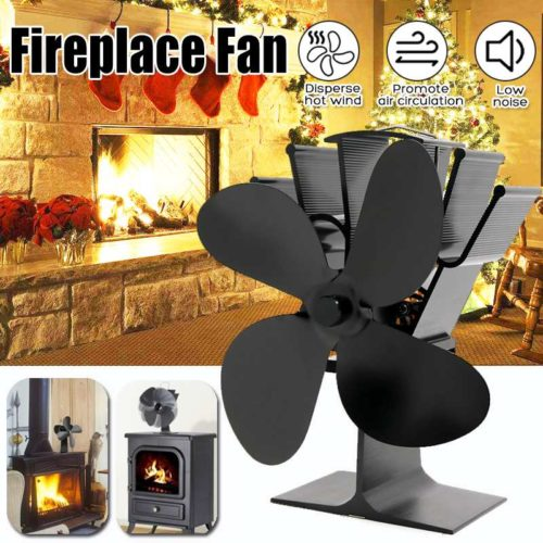 Fireplace Fan 4-Blade Heater