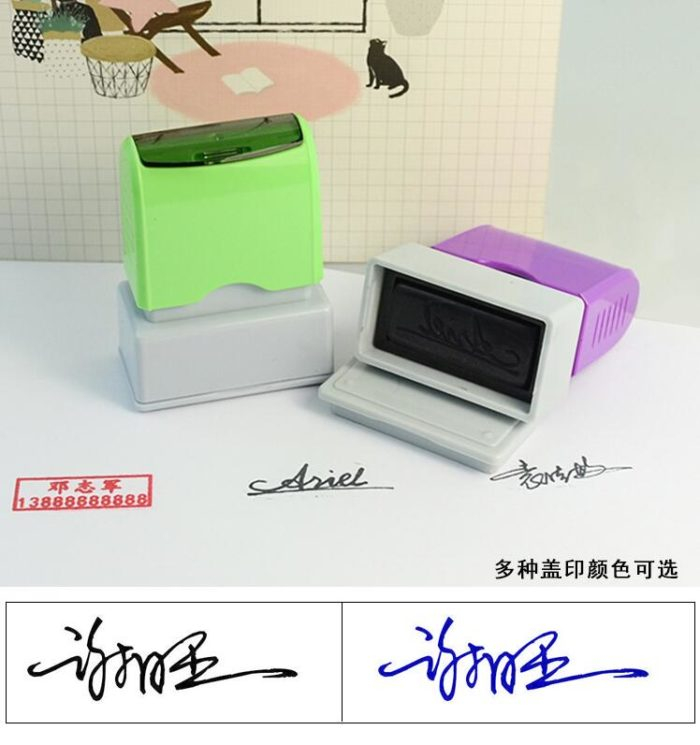 Signature Stamp DIY Personalized Stamp