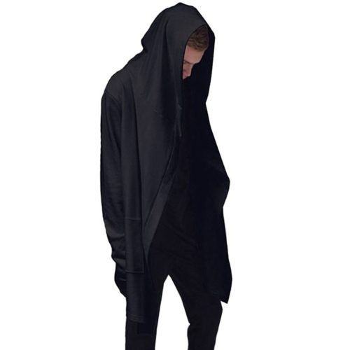 Black Hoodie Men Coat Jacket