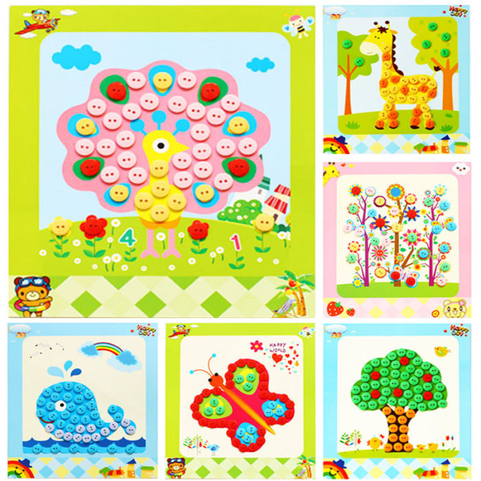 Arts And Crafts For Kids Button Painting