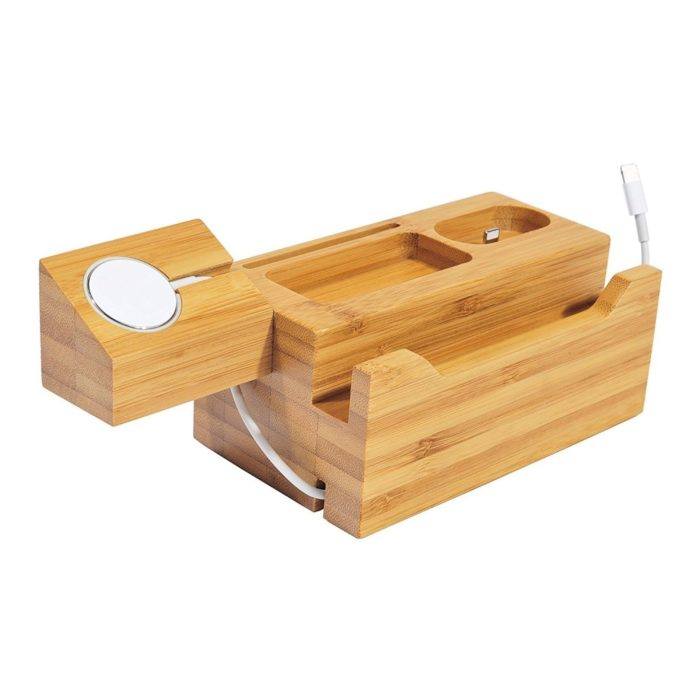 Charger Stand Wooden Dock Holder