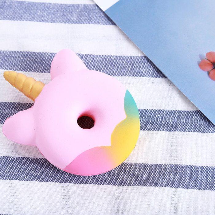 Squishy Unicorn Donut Toy