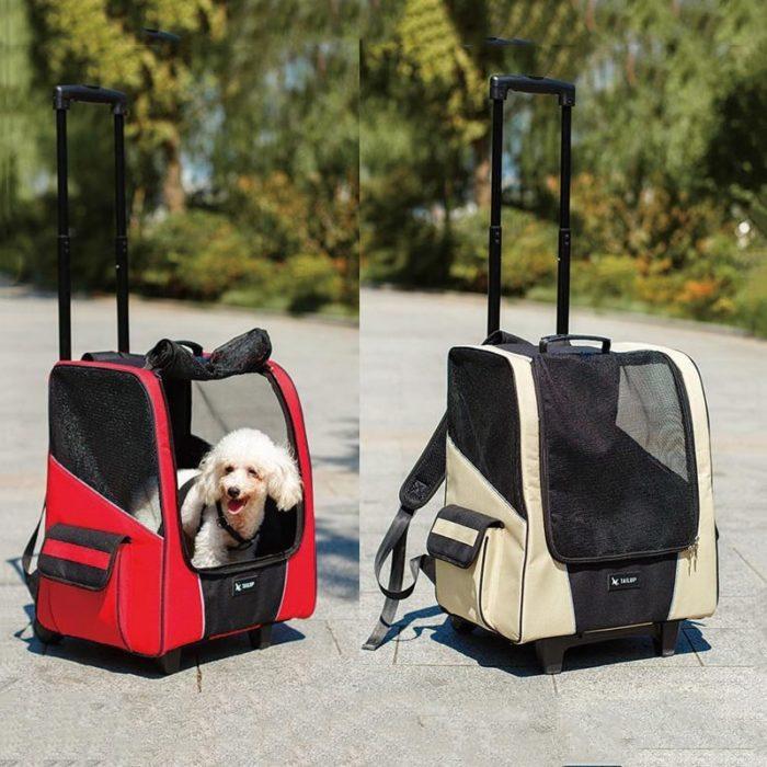 Pet Stroller Breathable Travel Backpack