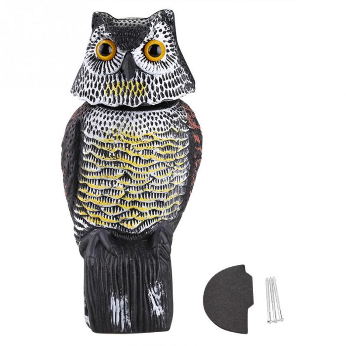 Owl Decoy Bird Repellent Scarecrow