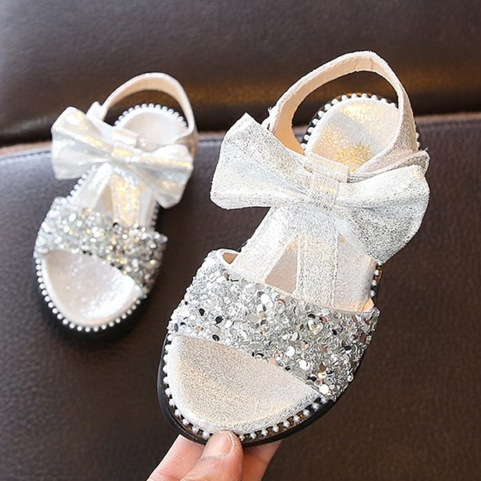 Bow Sandals Girls Fancy Shoes