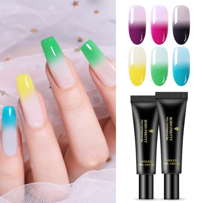 Poly Gel Nails Thermal Extension