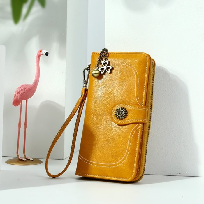 Ladies Leather Wallet Trendy Purse