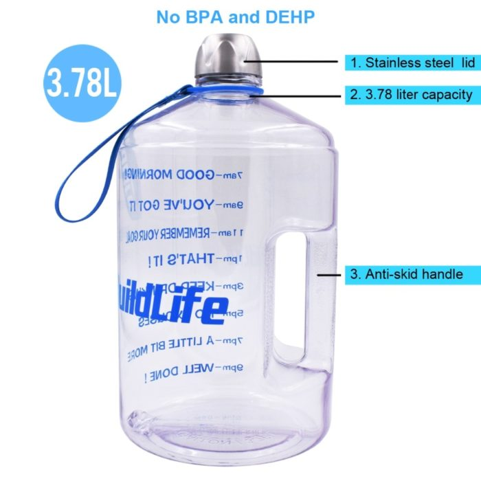 Gallon Water Bottle Sports Drinking Bottle
