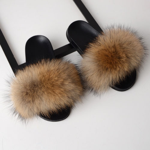 Fur Slippers Women House Sandals