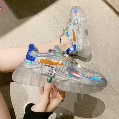 Iridescent Shoes Casual Footwear