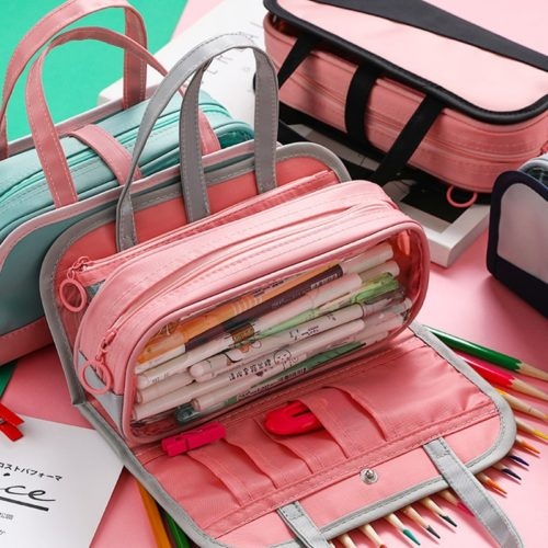 Big Pencil Case Detachable Pen Bag