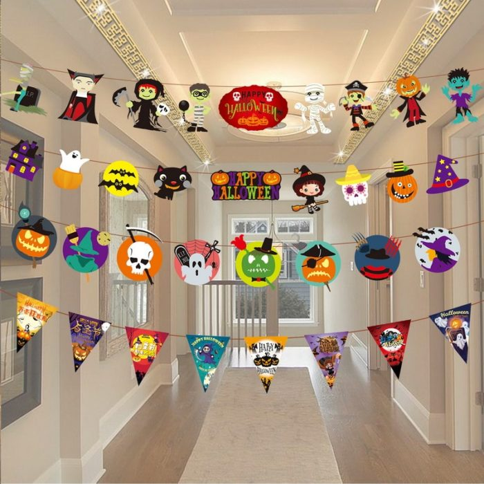 Halloween Ornaments Hanging Paper Chain